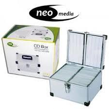 aluminium storage for 200 cd dvd neo media