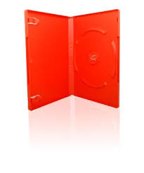 RED DVD CASE 14MM SINGLE