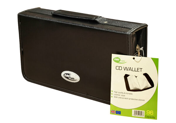 neo 96 capacity leather carry case for cd dvd