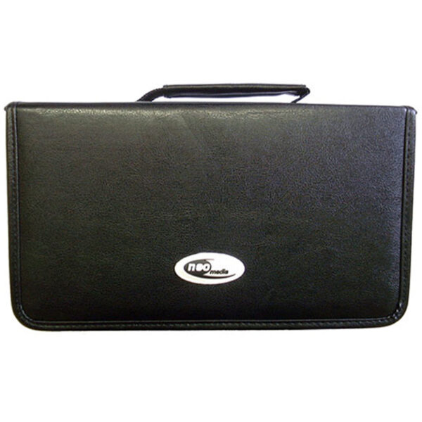 FAUX LEATHER 120 CD DVD CARRY CASE BY NEO MEDIA