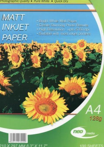 neo 128 gsm a4 matt inkjet paper