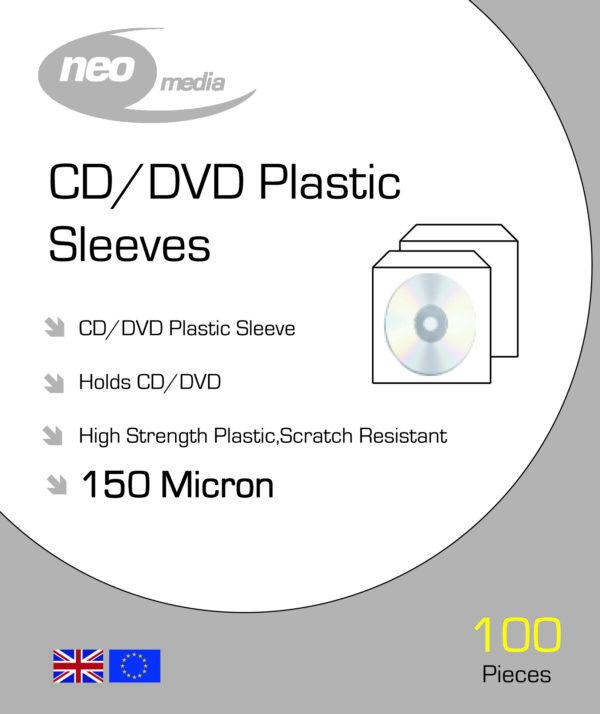 NEO MEDIA 150 MICRON CD DVD PP SLEEVES