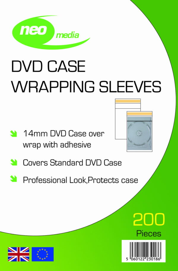 14mm dvd wraps for single dvd case neo media matrix