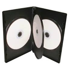 four way 14mm dvd case black