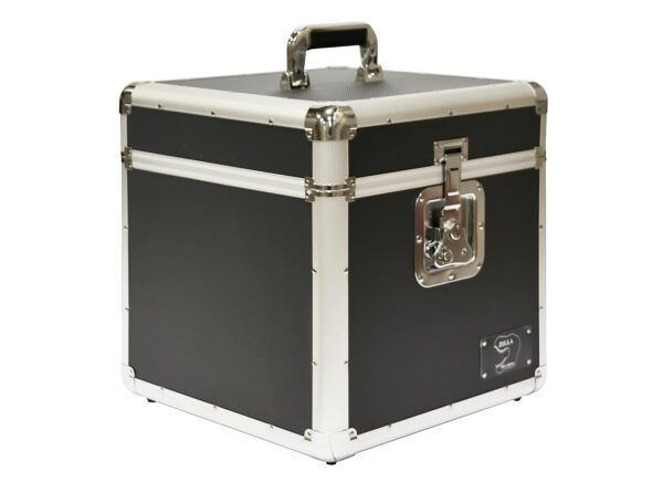 "Neo 100 LP VINYL 12"" Record DJ Black Storage Aluminium DJ Flight Carry Case Box"