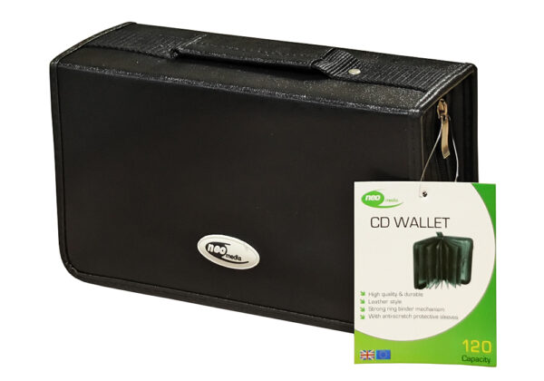 neo 120 cd capacity leather carry case cd dvd