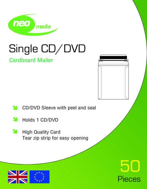 Neo CD DVD Card Mailer Peel & Seal
