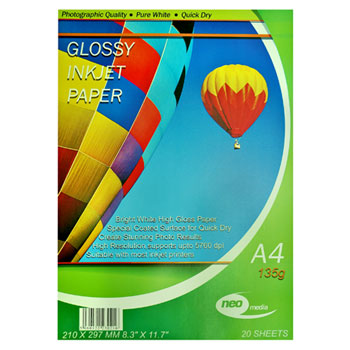 135gsm a4 gloss photo paper by neo media
