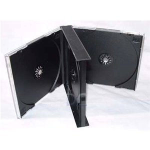 CD Jewel Case Triple 3 Way Black Tray-15