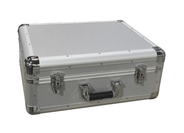 silver vinyl technics turntable case