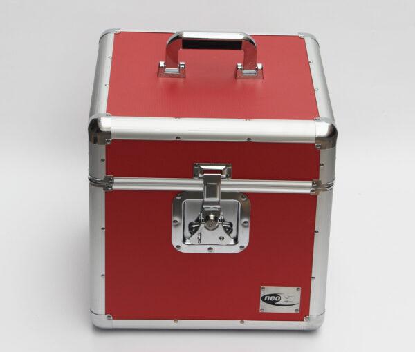 """LP 100 12"""" RED VINYL STORAGE CASE"""