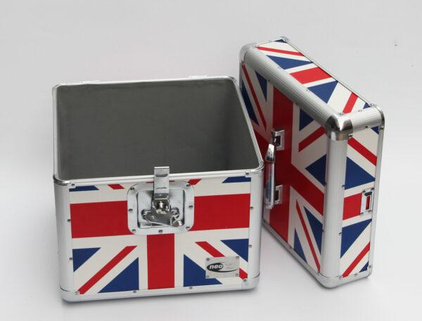 """BRITISH FLAG LP 100 12"""" STORAGE ALUMINIUM BOX FLIGH"""