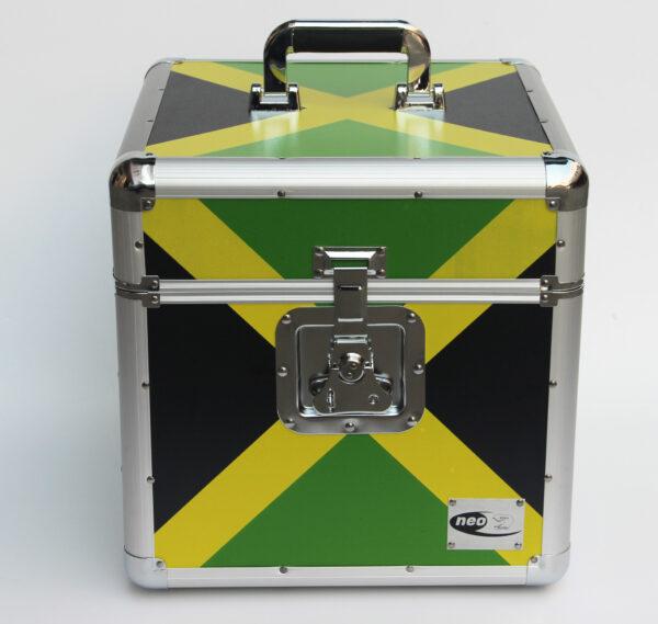 """Jamaican Flag lp 100 12"""" storage case"""
