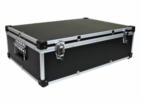 black NEO 1000 CD DVD ALUMINIUM STORAGE DJ CASE