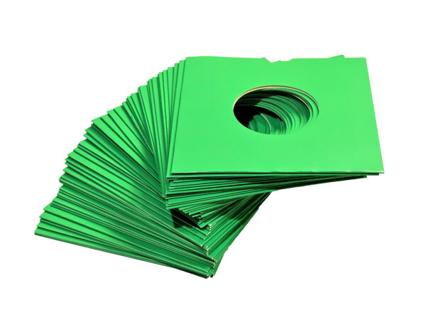 "7"" VINYL CARD PROTECTOR GREEN"