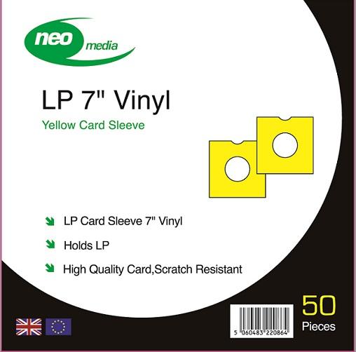"NEO 7"" SINGLE 45S YELLOW CARD SLEEVE"