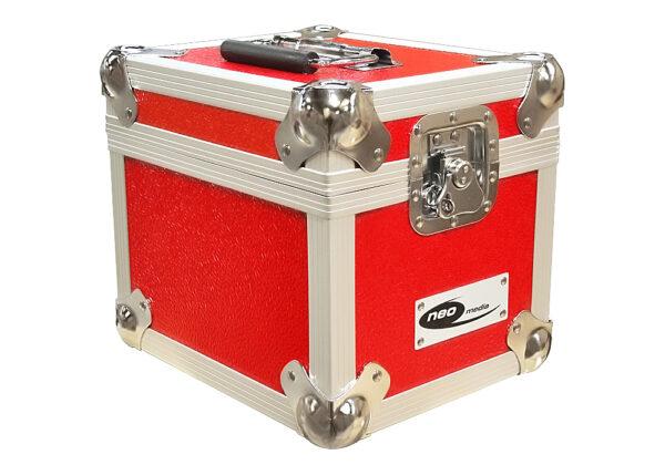 """100 7"""" red vinyl storage case"""