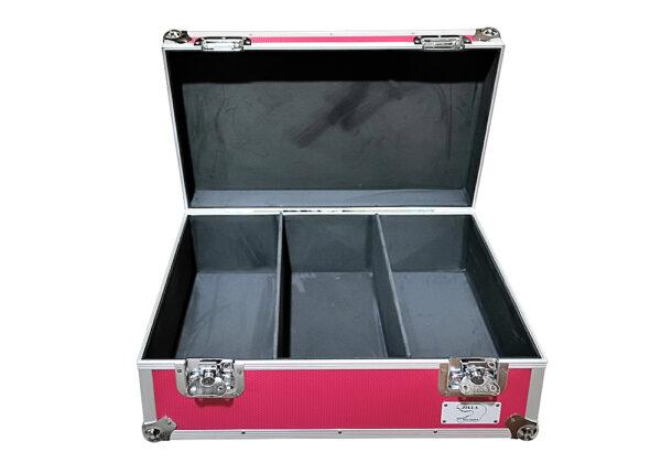 """aluminium storage case 500 capacity for 7"""" singles in Pink"""