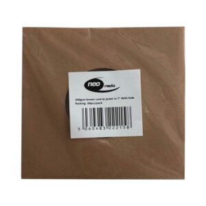 """7"""" 350gsm brown card lp jacket with hole"""