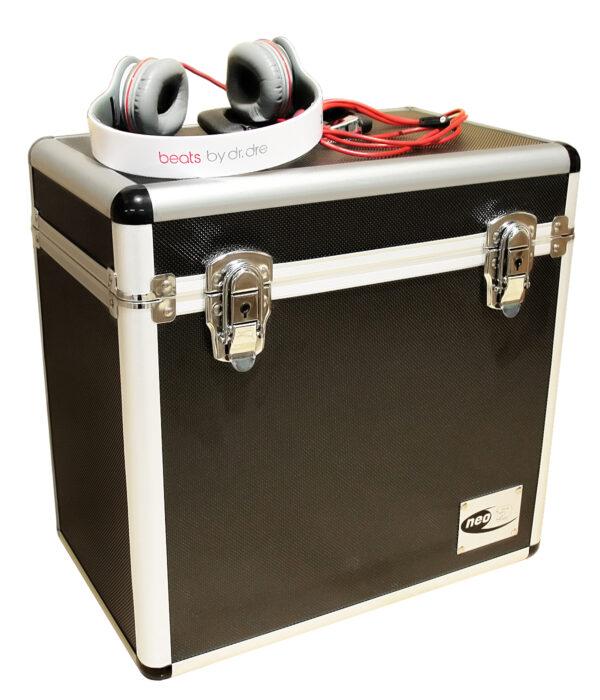 lp storage case in black