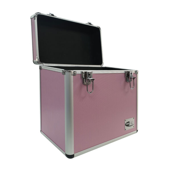 Vinyl storage case for 50 lp in pink