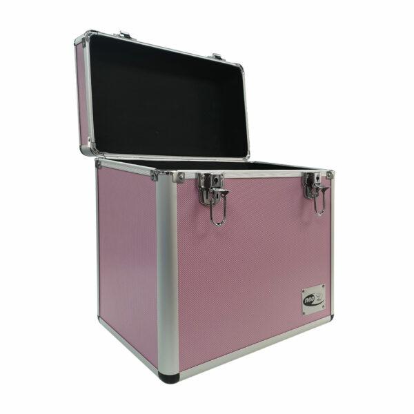 Vinyl storage case for 50 lp in pink