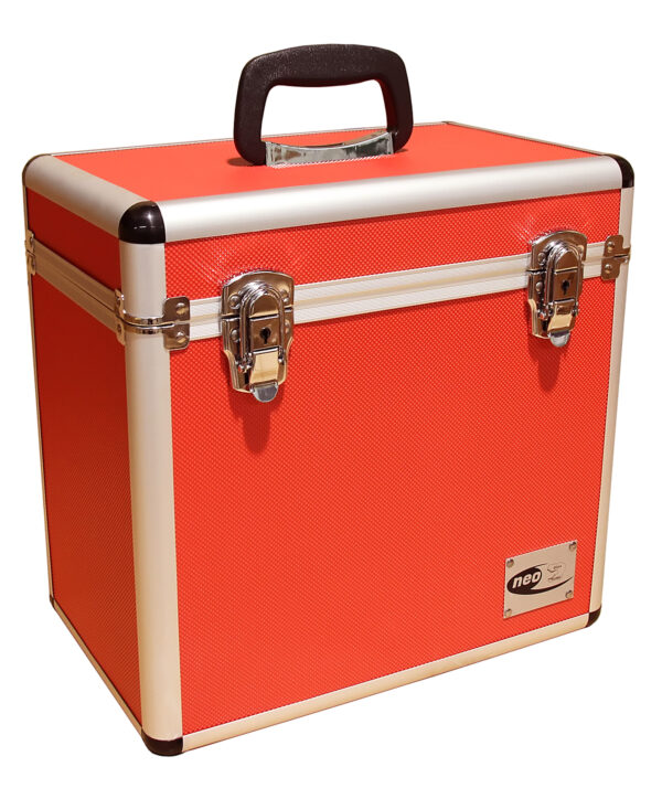 lp storage case red