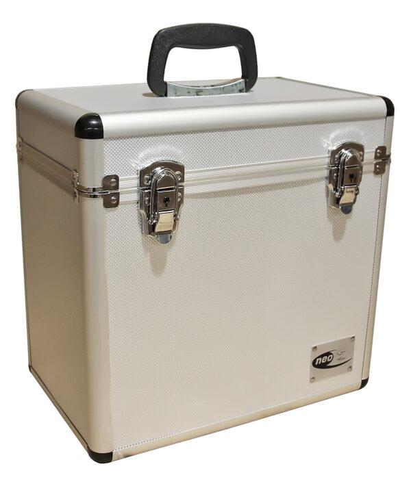 silver lp storage case
