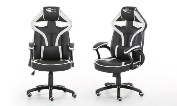 neo black and white morpheus gaming chair