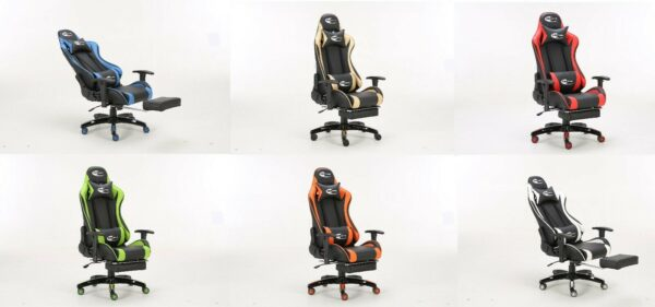 neo high back gaming chair with foot rest