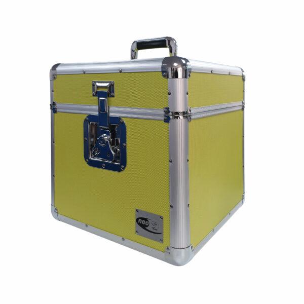 "Zilla by Neo 100 LP VINYL 12"" Record DJ Yellow Storage Aluminium DJ Flight Carry Case Box -839"