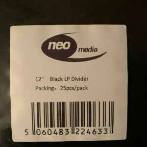 "Black 12"" lp card dividers"