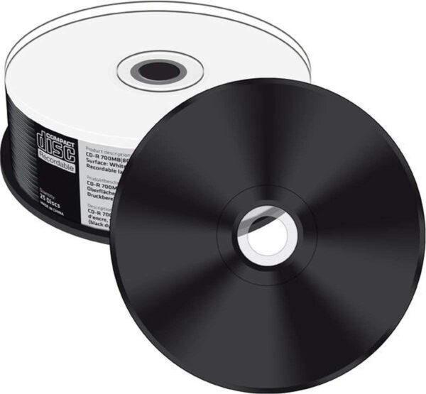 black bottom printable cd-r